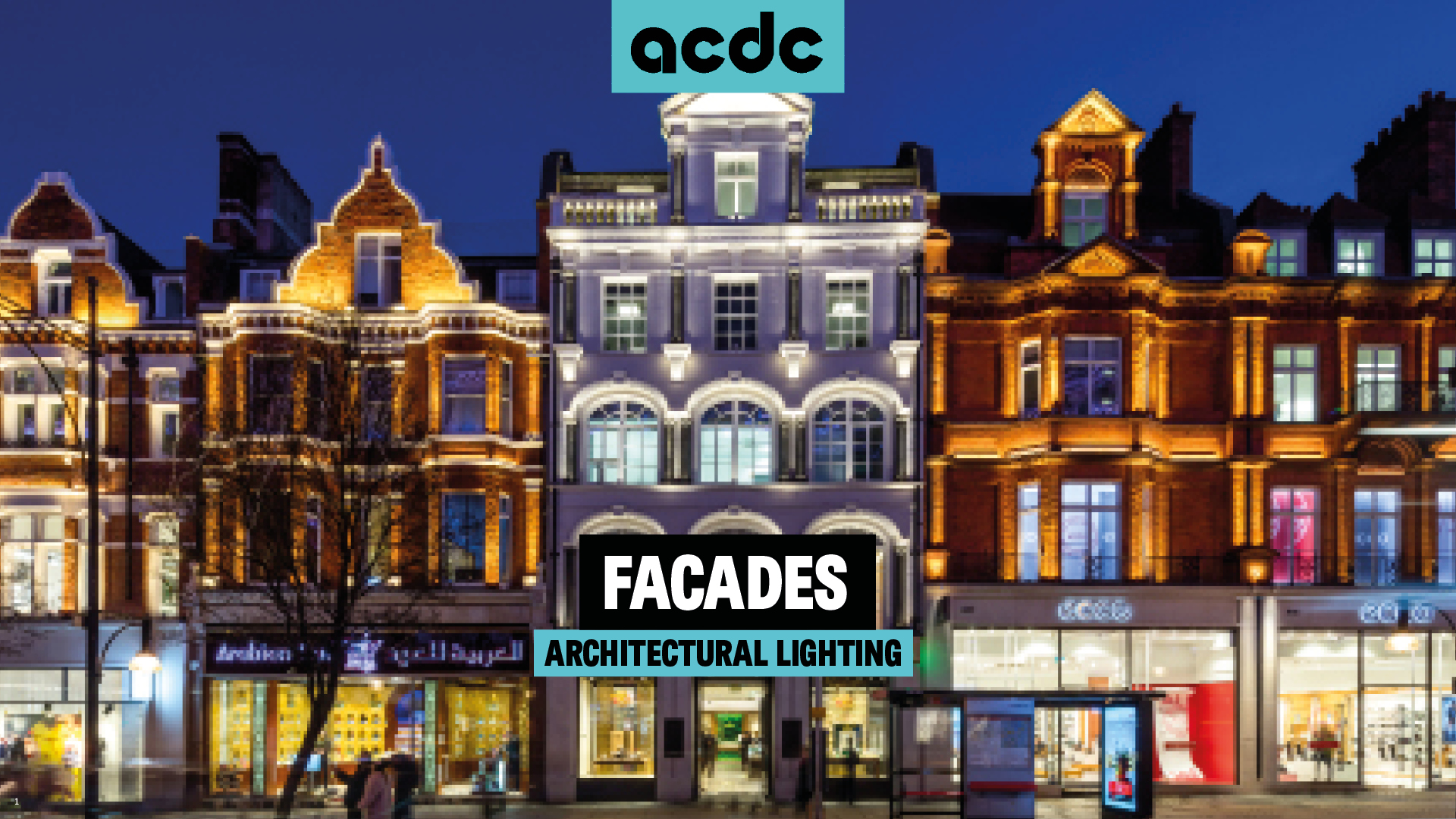 The considerations of facade lighting
